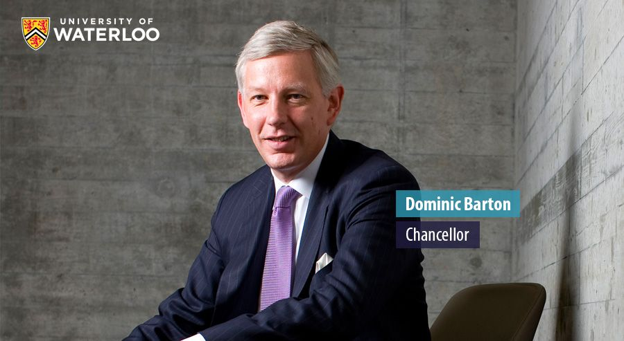 Dominic Barton, Chancellor - University of Waterloo
