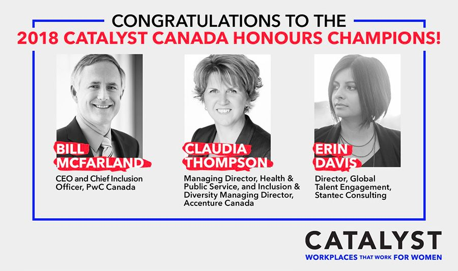 Three consultancy execs named 2018 Catalyst Canada Honours Champions