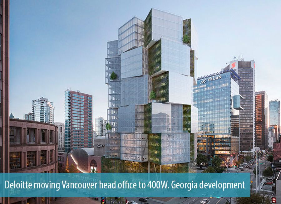 Deloitte moving Vancouver head office to 400W. Georgia development