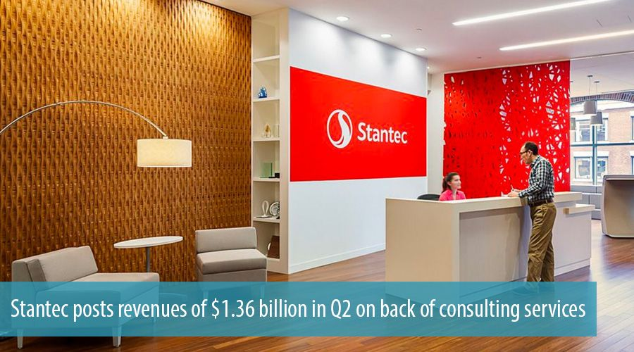Stantec posts revenues of $1.36 billion in Q2 on back of consulting services