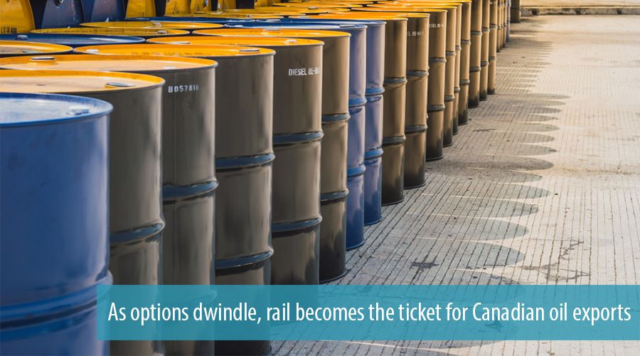 As options dwindle, rail becomes the ticket for Canadian oil exports