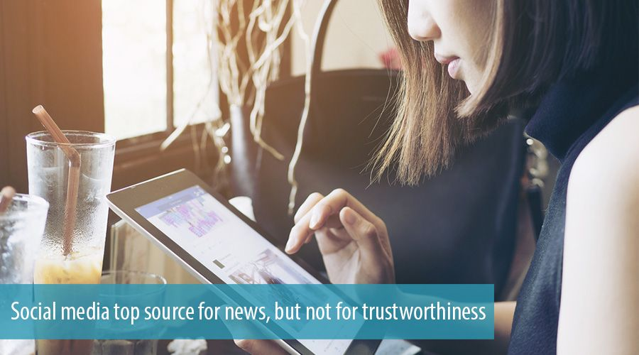 Social media top source for news, but not for trustworthiness