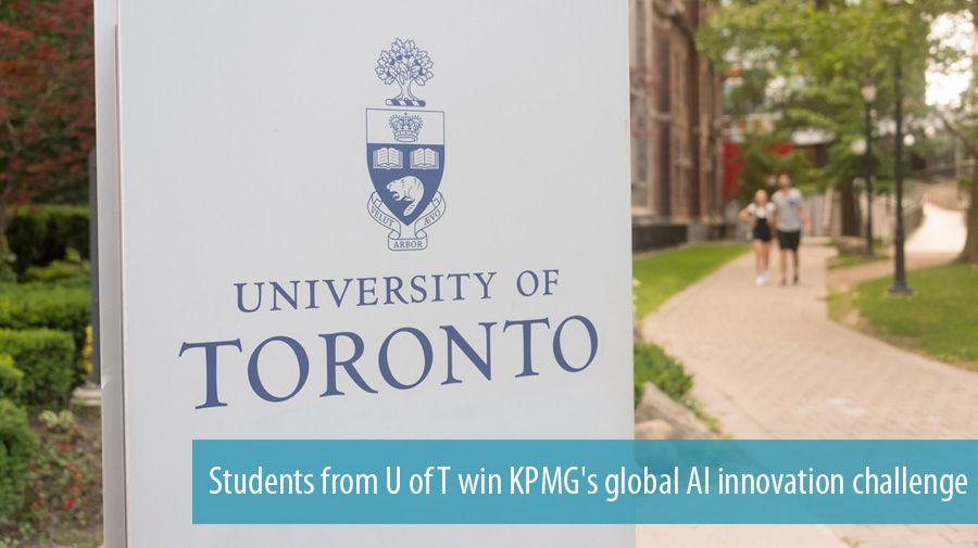 Students from U of T win KPMG's global AI innovation challenge