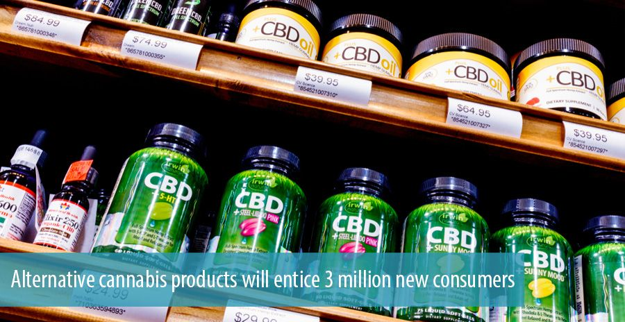 Alternative cannabis products will entice 3 million new consumers