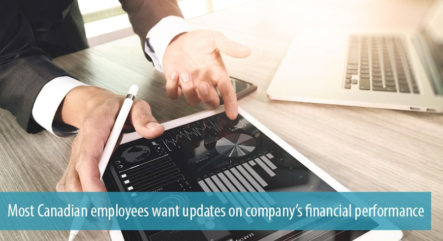 Most Canadian employees want updates on company's financial performance