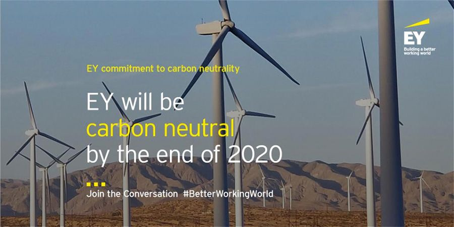 EY commits to being carbon neutral by end of 2020