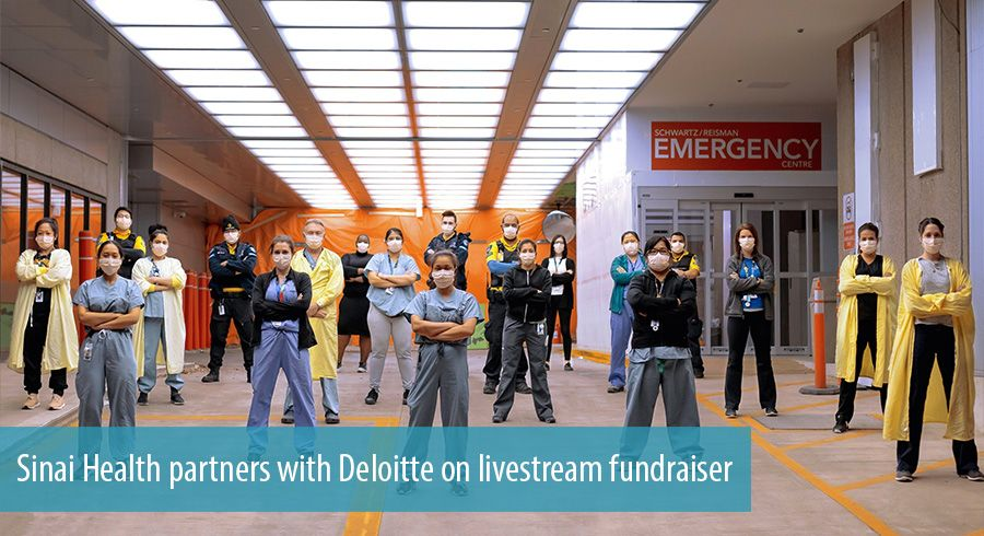 Sinai Health partners with Deloitte on livestream fundraiser