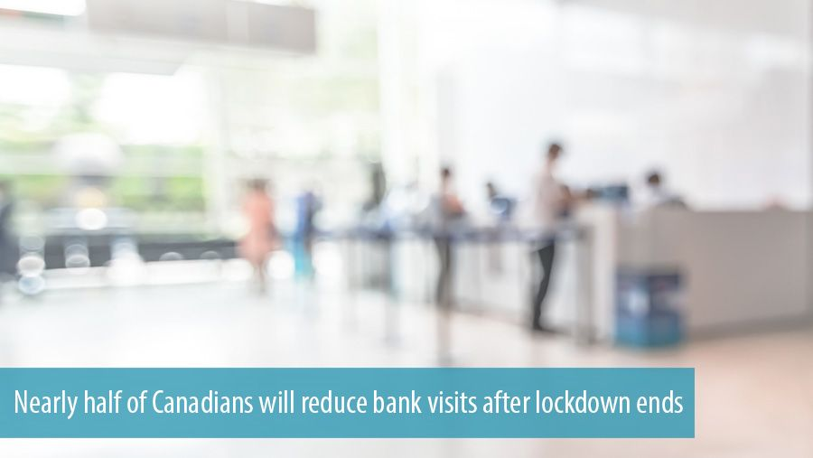 Nearly half of Canadians will reduce bank visits after lockdown ends