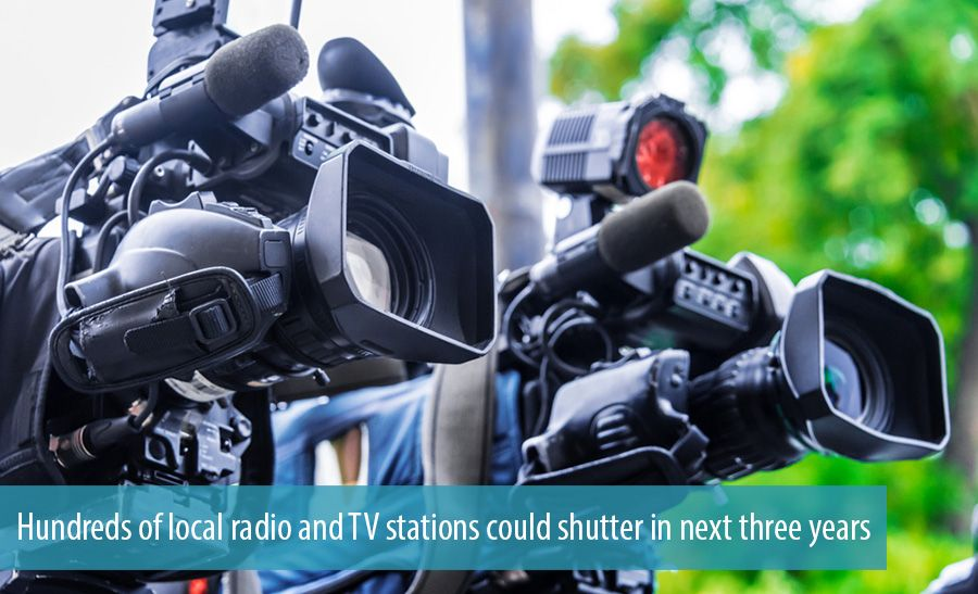 Hundreds of local radio and TV stations could shutter in next three years