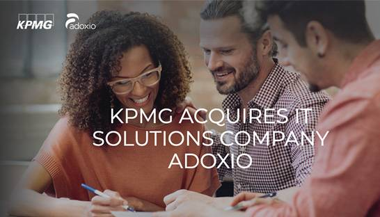 KPMG acquires IT solutions company Adoxio