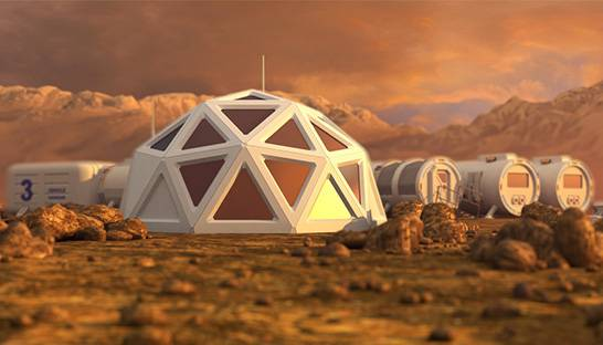 What could a large space colony on Mars actually look like?