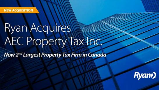 Ryan buys Canadian consultancy AEC Property Tax