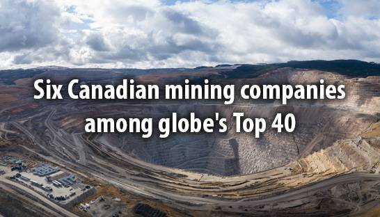Six Canadian mining companies among globe's Top 40