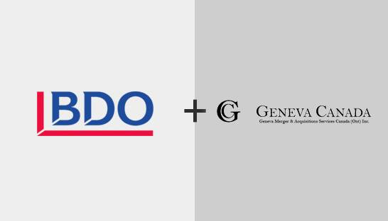 BDO Canada acquires Geneva Merger & Acquisition Services