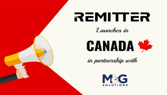 Remitter partners with consultancy M&G Solutions to enter Canadian market